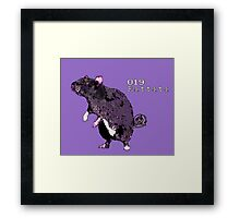 Rattata - Fundraiser to save rats! Framed Print