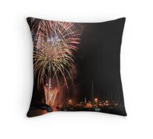 Wollongong Harbour New Years Eve Fireworks Throw Pillow