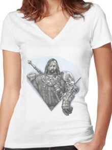 The hound Women's Fitted V-Neck T-Shirt