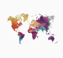 World map watercolor  Kids Clothes