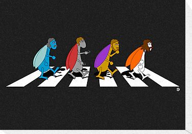 Beetles on Abbey Road ART by Diesel Laws