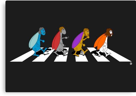 Beetles on Abbey Road ART by Diesel Laws
