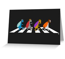 Beetles on Abbey Road ART Greeting Card