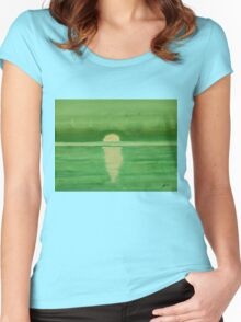 Intracoastal original painting Women's Fitted Scoop T-Shirt