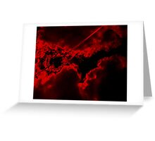 And God saw red... Greeting Card