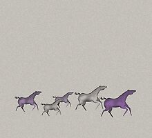 Cave Horses in Purple by kimmysuewho