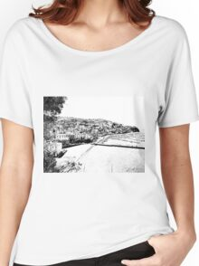Agropoli: landscape with port and beach Women's Relaxed Fit T-Shirt