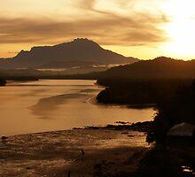 Sunrise at Kinabalu by Rockmonkey