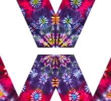 Volkswagen Logo Tie Dye Sticker