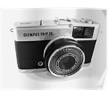 Olympus Trip 35 Classic Camera Early Model Poster