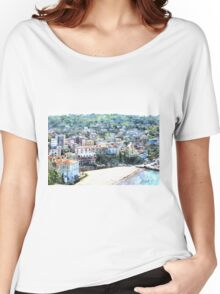 Agropoli: landscape with beach Women's Relaxed Fit T-Shirt