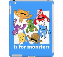 M is for Monsters! iPad Case/Skin