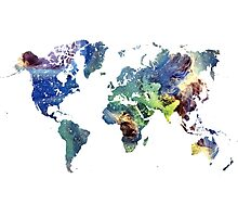 World map cosmos Photographic Print