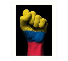 Flag of Colombia on a Raised Clenched Fist  Art Print