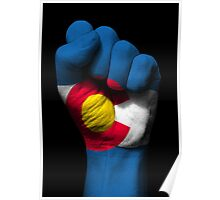 Flag of Colorado on a Raised Clenched Fist  Poster