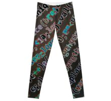 Digital Mumbo Jumbo on Acid Leggings