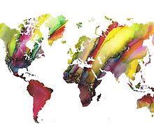 Colored world map by JBJart