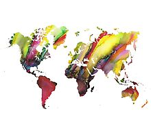 Colored world map Photographic Print