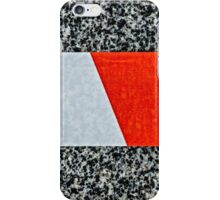 Red warning tape - Nice to meet you iPhone Case/Skin