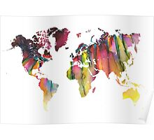 World Map colored Poster