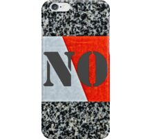 Red warning tape - Never again iPhone Case/Skin