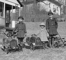Children with Pedal Cars, 1924 by historyphoto