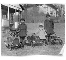 Children with Pedal Cars, 1924 Poster