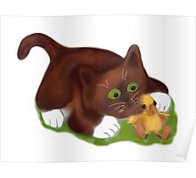 Kitten and Duckling  are Best Friends  Poster