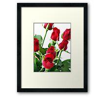 ~ red roses for my love ~ Framed Print