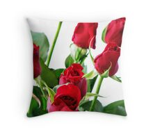 ~ red roses for my love ~ Throw Pillow