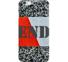 Red warning tape - Dead end iPhone Case/Skin