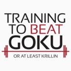 Training to beat Goku - Krillin - Black Letters by m4x1mu5