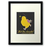 Feed the chocobo! Framed Print
