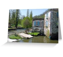 The Abbey water mill of Brantome Greeting Card