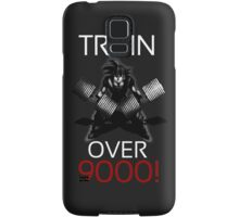 Train over 9000-BW White Letters Samsung Galaxy Case/Skin
