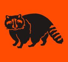 Black raccoon Kids Tee