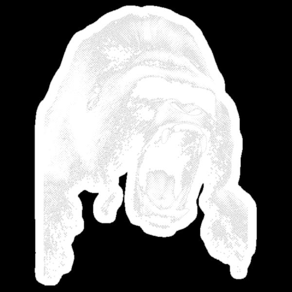 halftone gorilla by timcostello