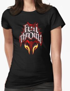 Full Throttle Energy Drink Womens Fitted T-Shirt
