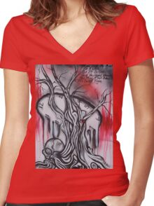 Healing Time By Sherry Arthur Women's Fitted V-Neck T-Shirt