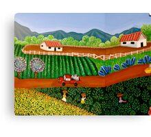 FINCA SAN. IGNACIO   (Nicaraguan Folk Art.) Canvas Print