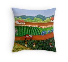 FINCA SAN. IGNACIO   (Nicaraguan Folk Art.) Throw Pillow
