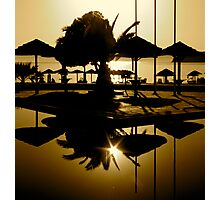 POOLSIDE SUNSET Photographic Print