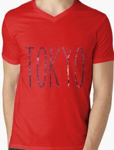 Tokyo Nights Mens V-Neck T-Shirt