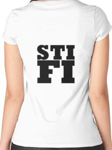 Sticky Fingers STIFI LOGO Women's Fitted Scoop T-Shirt