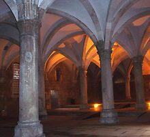 Alcobaca, Sta Maria, Monks' sleeping room by presbi