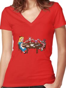 To Infini-TEA and Beyond! Women's Fitted V-Neck T-Shirt