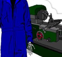 death by trade machinist Sticker