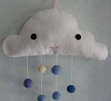 Smiling cloud mobile by mykonos