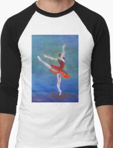 Red Ballerina Men's Baseball ¾ T-Shirt