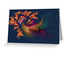 Dragon abstract fractal Greeting Card